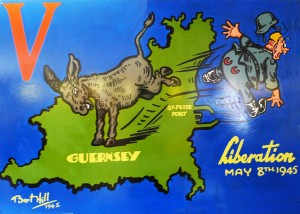 May 1945 :The Guernsey Donkey says goodbye to an unwelcome visitor