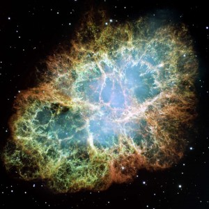 The Crab Nebula Remnants of a sun that exploded 6,000 years ago. and first observed on earth in 1054