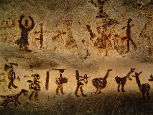 Cave paintings in Magura Cave, Bulgaria. Photo by flickr.com