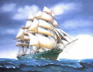 The famous Tea Clipper 'Thermopylae'