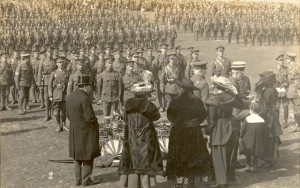 Colours & drums presentation to RGLI L'ancresse 3rd May 1917