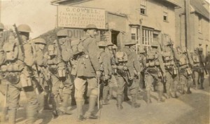 Marching to Canterbury training camp June 1917