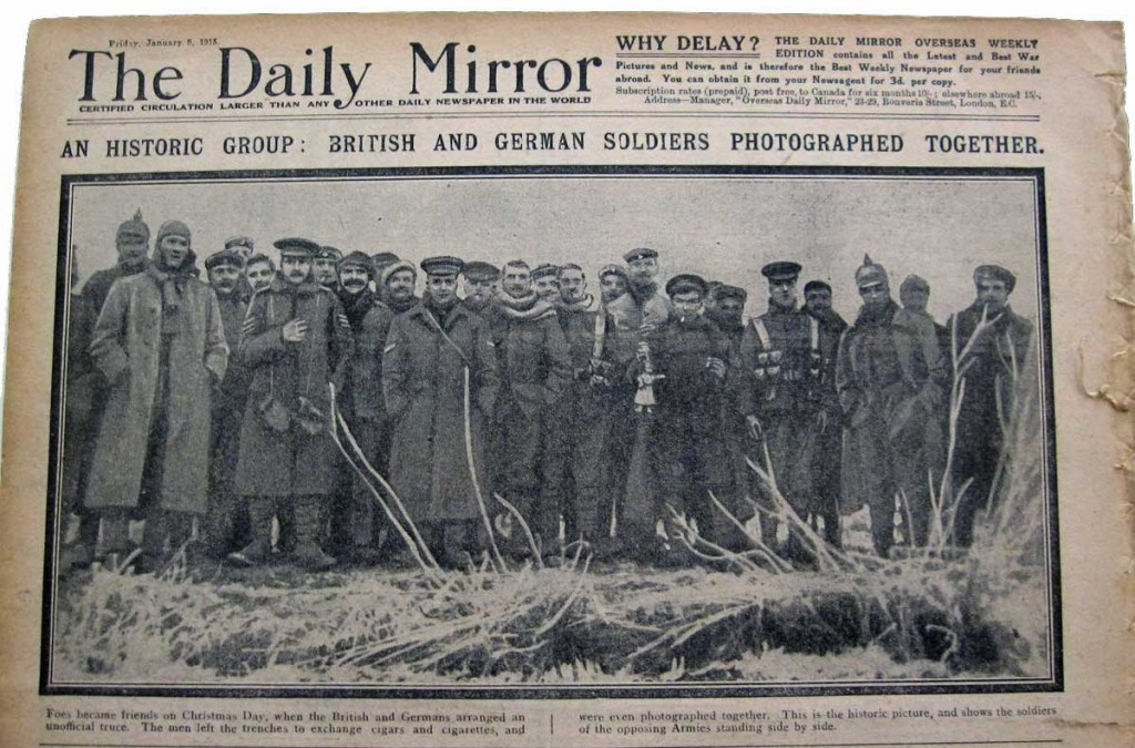 1914 Truce : The Daily Mirror Report January1915