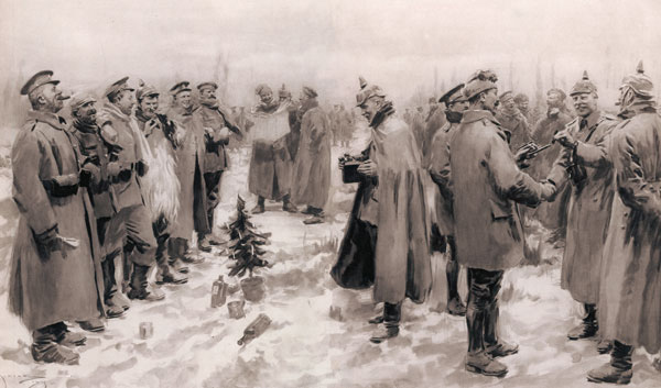 1914 Truce : The London Illustrated News Illustration