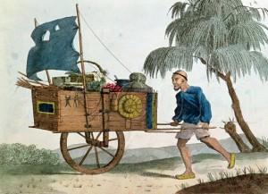 Chinese Wheelbarrow with a Sail
