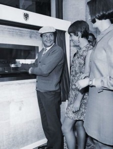 First ATM Withdrawal by TV Star Reg Varney