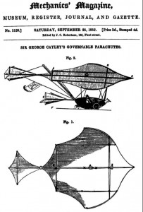 George Cayley's Designs in the 1852 Mechanics Magazine