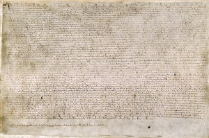 One of only 4 surviving copies of Magna Carta
