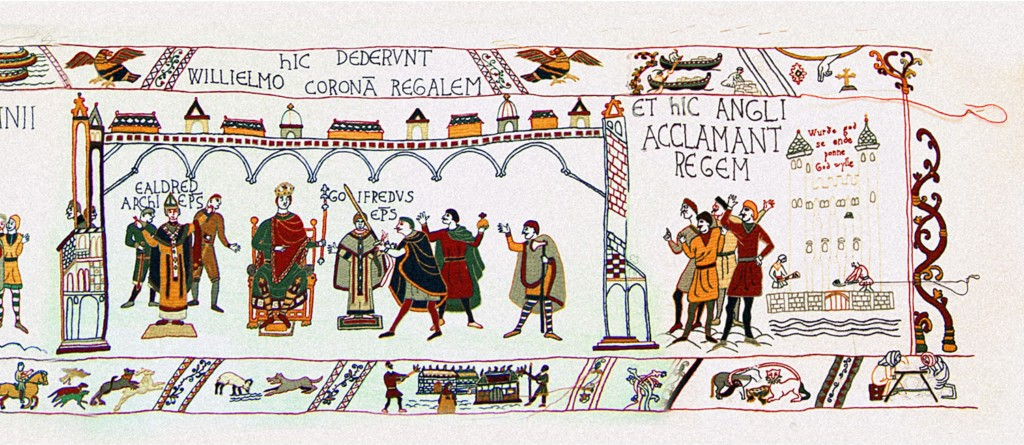William's coronation at Westminster Abbey on Christmas Day 1066.