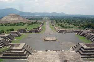 Teotihuacan Temple Complex in the Mexico valley