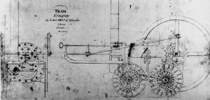 Trevithicks Plan Of Trevithick's Engine