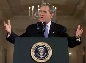 Body Language: George W Bush's Open Podium Gesture