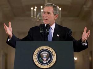 Body Language: George W Bush's Open Podium Gesture