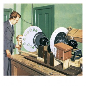 Illustration of John Logie Baird pioneer of television