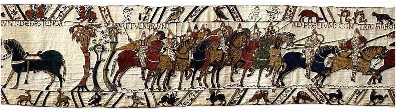 EXIERUNT DE HESTENGA AT VENERUNT AD PRELIUM CONTRA HAROLDUM REGEM : left Hastings, and went to do battle with King Harold.