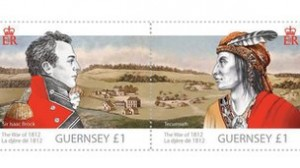 £1 stamps featuring both Brock and his ally, Shawnee leader Tecumseh