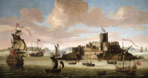 17th Century Portrait of Castle Cornet  with the Donjon