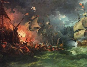 Fire Ships Amongst the Spanish Armada