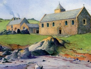 Lihou Priory Buildings Artists Impression