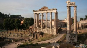 The Temple of Saturn in Rome