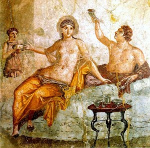 Herculaneum Fresco depicting Saturnalia
