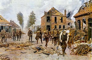 The Fortunino Matania Painting showing Pte Tandey