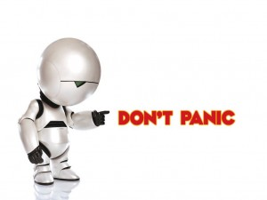 Hitch Hikers Guide To The Galaxy Dont Panic
