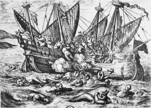Print_entitled_Horribles_cruautes_des_Huguenot_en_France_16th_century