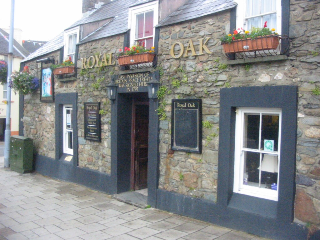 Royal Oak Pub in Fishguard, where Lord Cawdor set up his headquarters