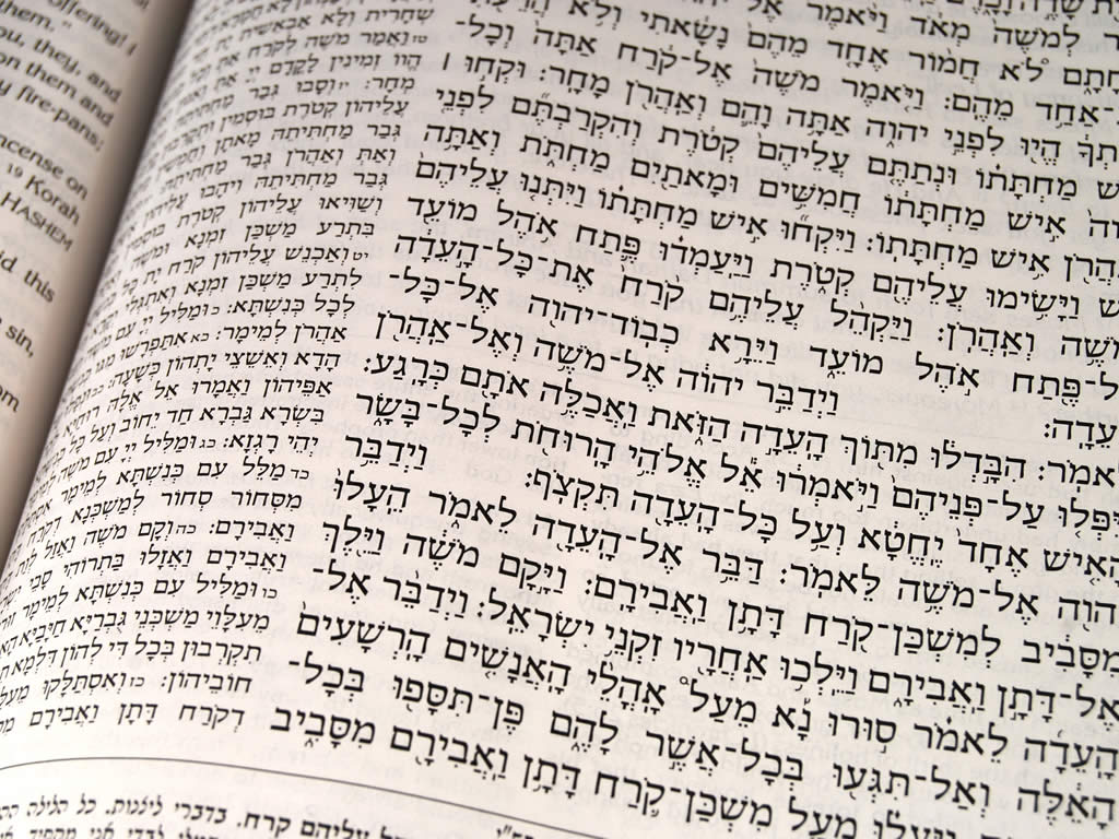 Which is the holy book of Jews ? and what is the language used ?
