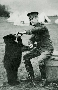 Captain Harry Colebourn_& Winnie on Salisbury Plain