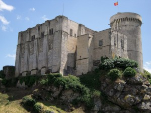 The castle of La Falaise in Normandy