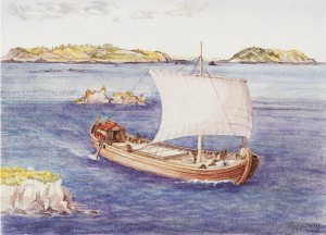 Artists Impression of Roman Wreck Asterix