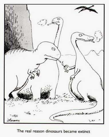 FarSideCartoon-real-reason-dinosaurs-are-extinct