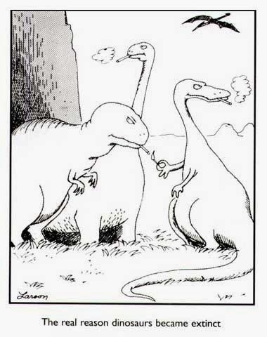 FarSideCartoon-real-reason-dinosaurs-are-extinct