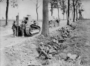 Mobile War Again : Canadian Troops on Arras-Cambrai road 1918