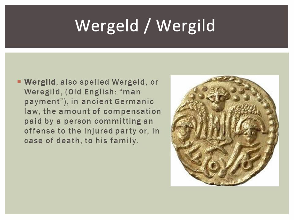 weregeld definition