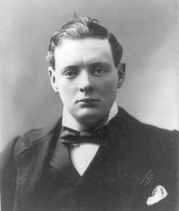 Young Winston Churchill width=
