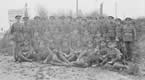 Lieutenant A H Scott and men of the Guernsey Light Infantry near Montreuil, 26 October 1918.