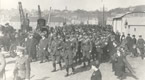 Guernseymen departing for the 16th Irish Regiment from the White Rock, St. Peter Port, 1915