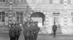 British General Headquarters at the Ecole Militaire Montreuil, showing the Guard of the Guernsey Light Infantry, 1918