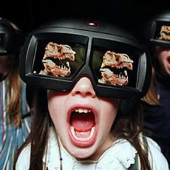 How do 3-D films and 3-D glasses work?